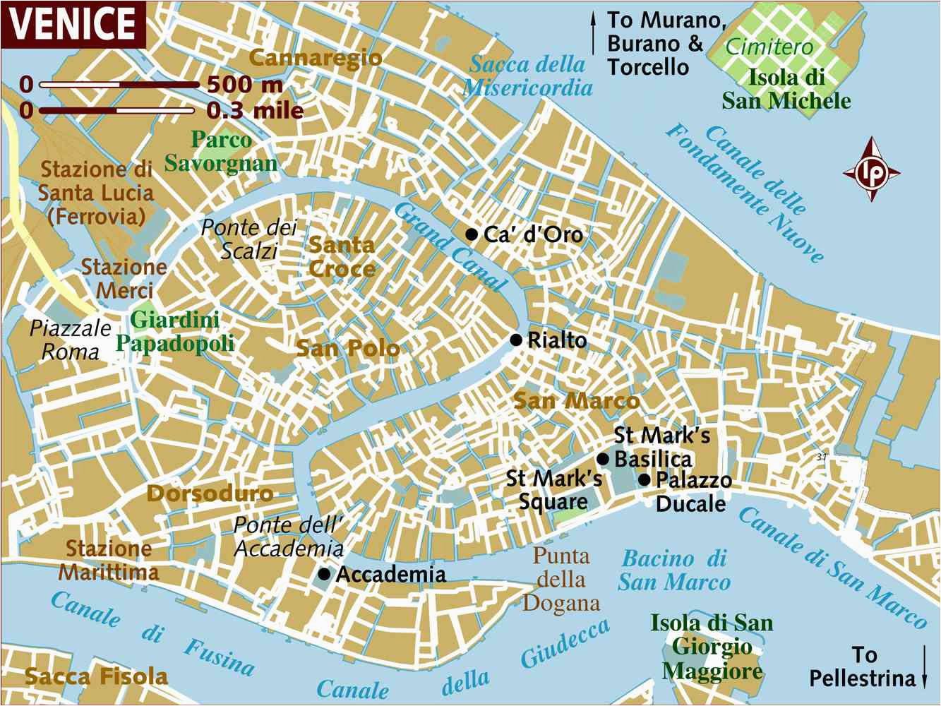 Map Of Venice Italy Airport Venice Neighborhoods Map and Travel Tips