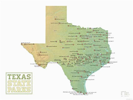 National Parks In Texas Map Amazon Com Best Maps Ever Texas State Parks Map 18×24 Poster Green
