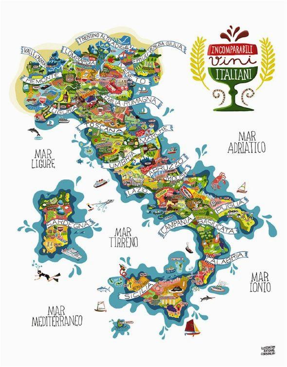 Paris and Italy Map Italy Wines Antoine Corbineau 1 Map O Rama Italy Map Italian