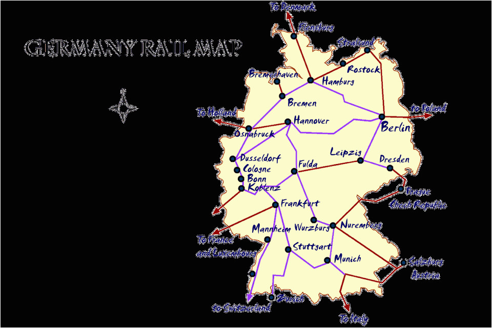 Rail Map Of Italy with Cities Germany Rail Map and Transportation Guide