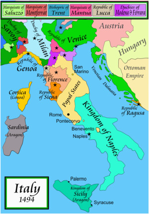 Renaissance Italy Map 1494 Italian War Of 1494 1498 Wikipedia