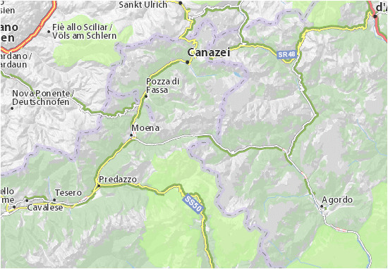 San Pellegrino Italy Map Mapa Passo San Pellegrino Plan Passo San Pellegrino Viamichelin