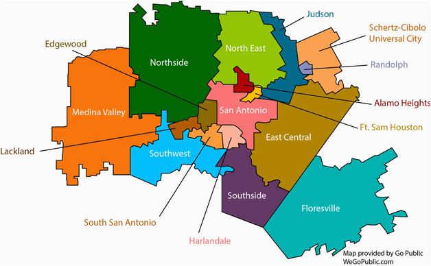 Texas School District Map San Antonio School Districts Gopublic