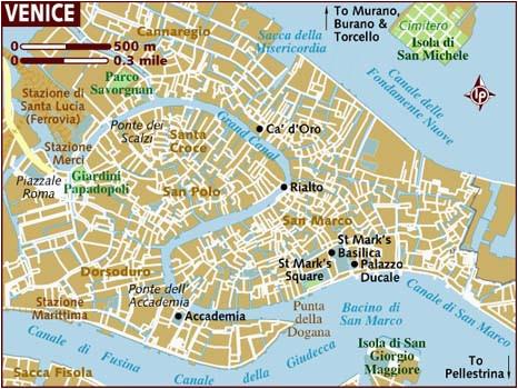 Venice Italy tourist Map Map Of Venice