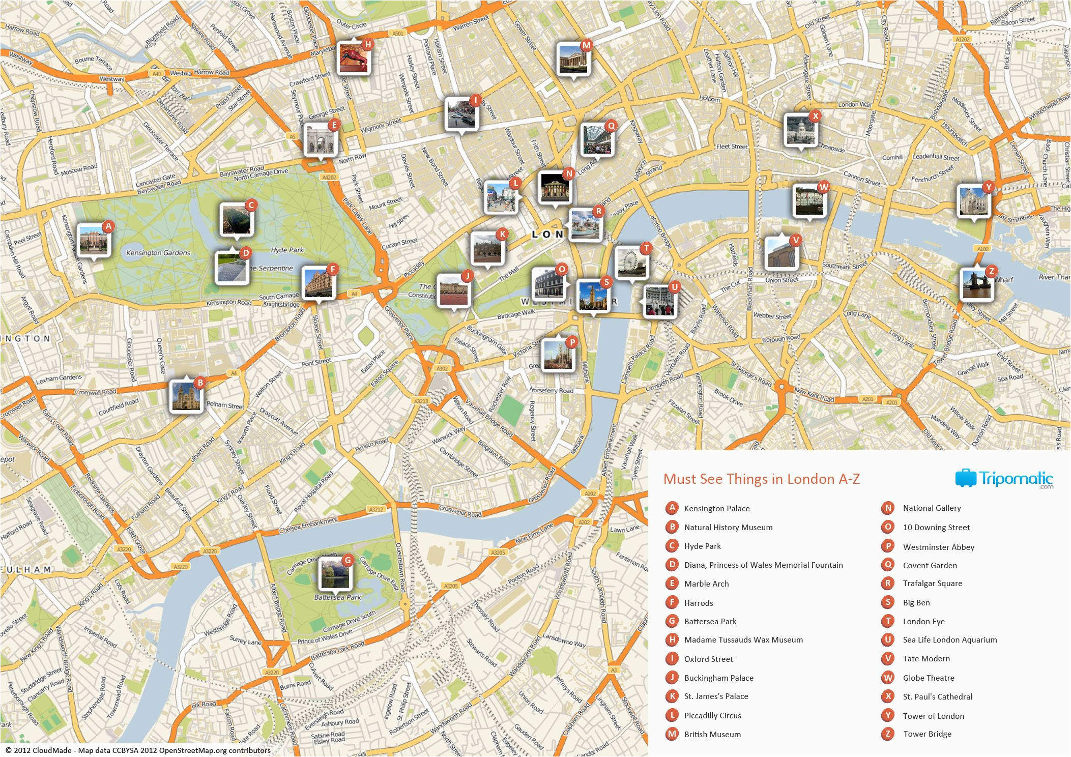 A Map Of London England What to See In London In 2019 Lines London attractions