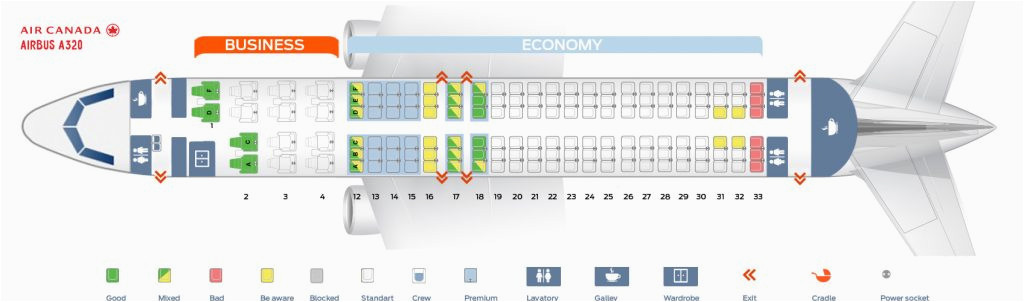 Air Canada Rouge Seat Map Air Canada Fleet Airbus A320 200 Details and Pictures