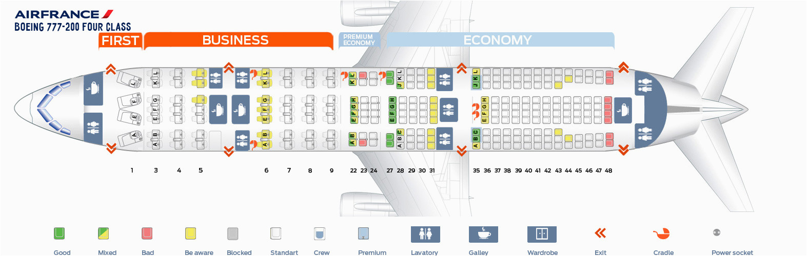 Air France 777-200 Seat Map Boeing 777 200er Seat Map Air France Review Home Decor