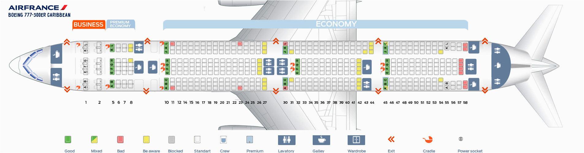 Air France Boeing 777 300 Seat Map Seating Chart Boeing 777 300er Air France Elcho Table