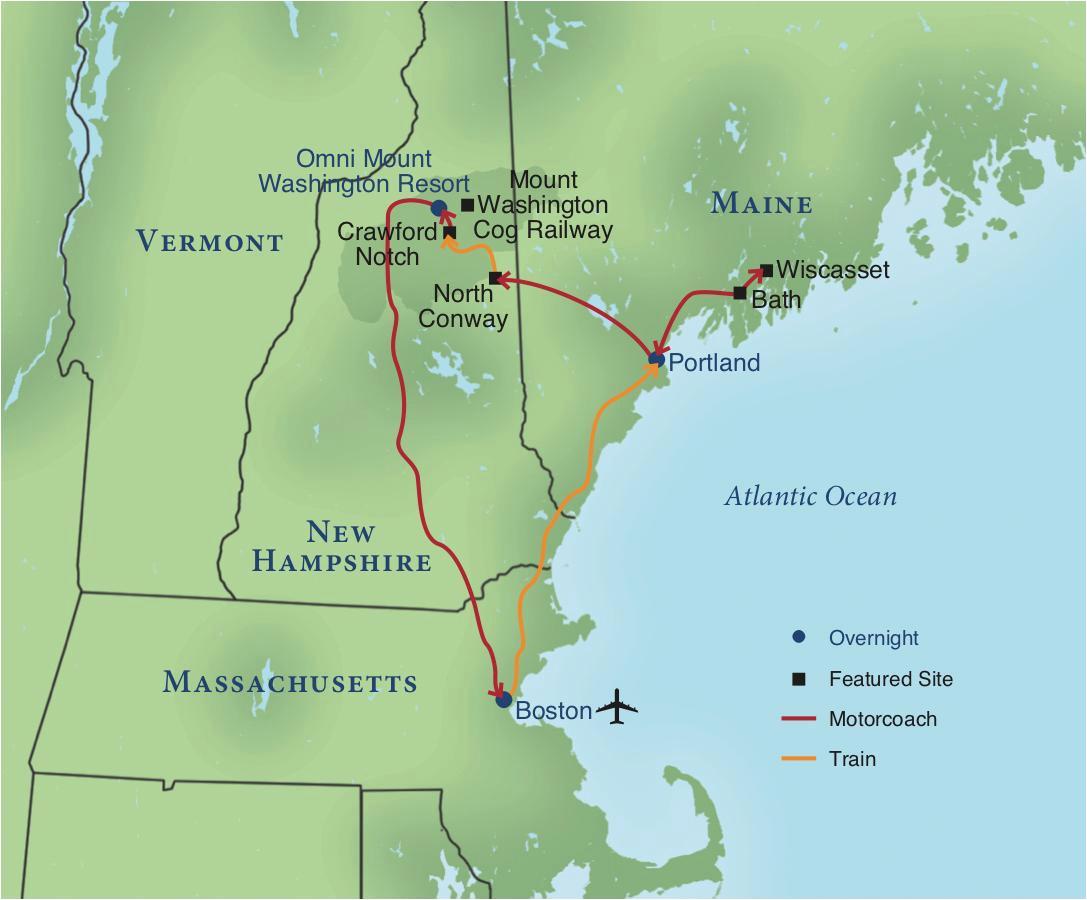 Amtrak New England Map Railroading New England Smithsonian Journeys