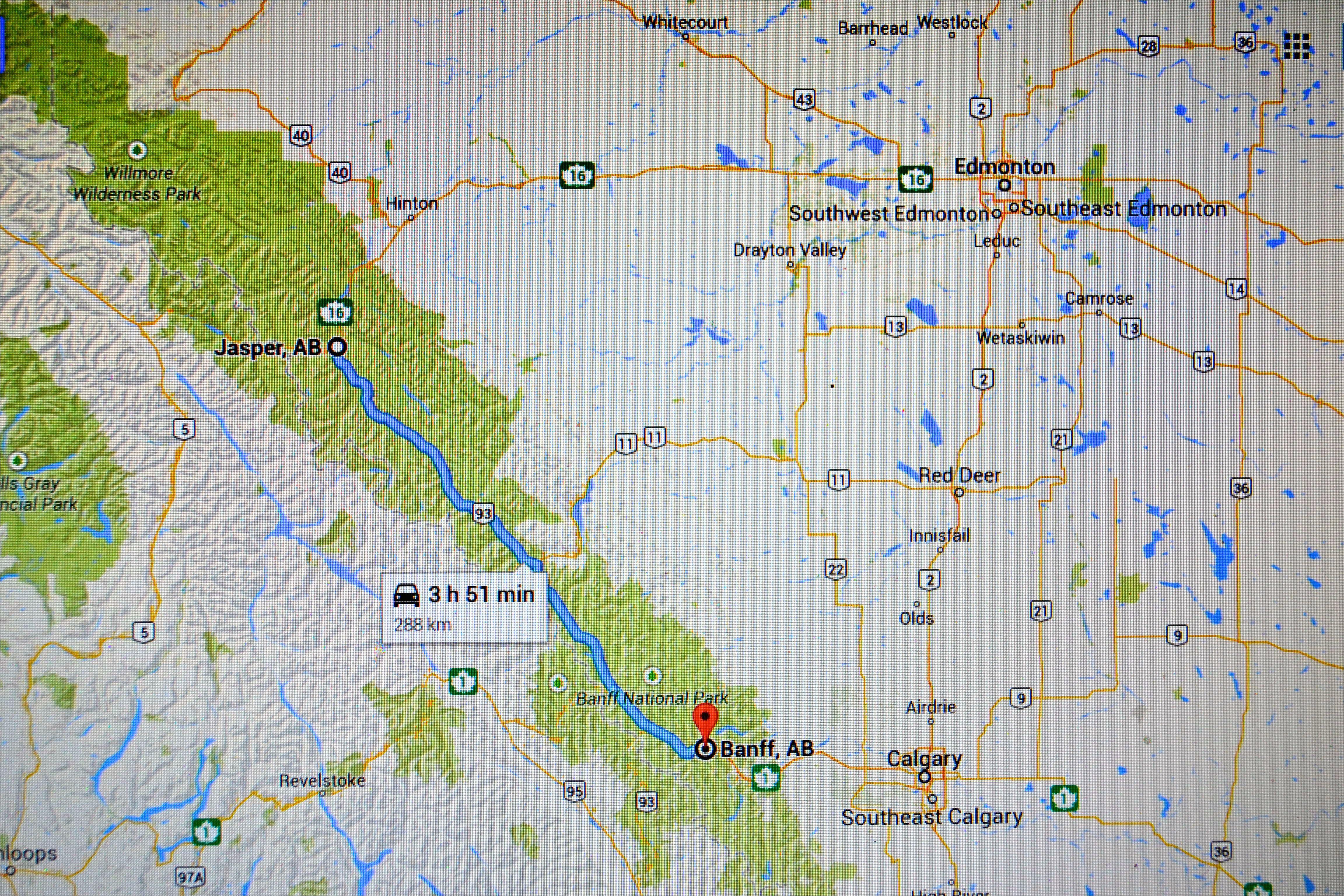 Banff Canada Maps Google Jasper Vs Banff In the Canadian Rockies