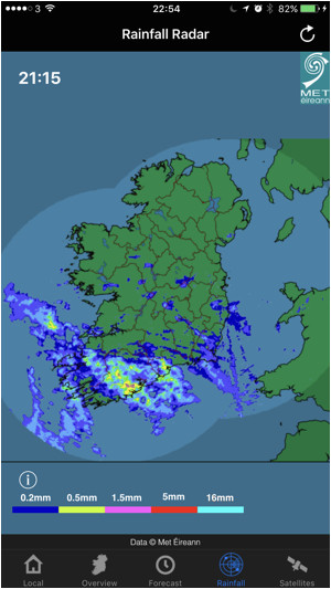 Bing Map Of Ireland Irish Weather On the App Store