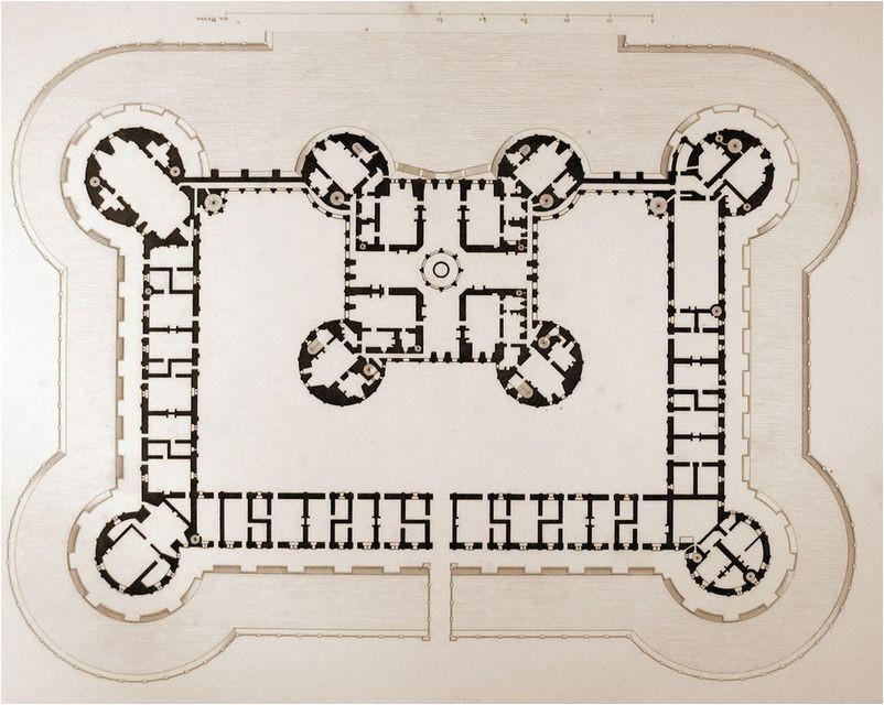 Chambord France Map First Floor Plan Of Cha Teau De Chambord Cha Teau De