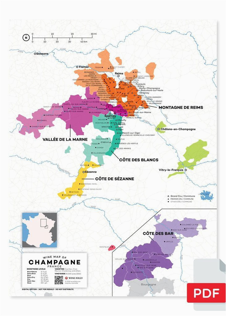 Champagne Region Of France Map France Champagne Wine Map In 2019 From Our Official Store