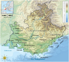 Detailed Map Of Provence France Provence Wikipedia