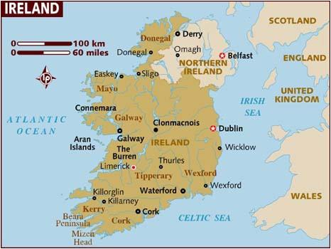 Dublin Ireland World Map Map Of Ireland