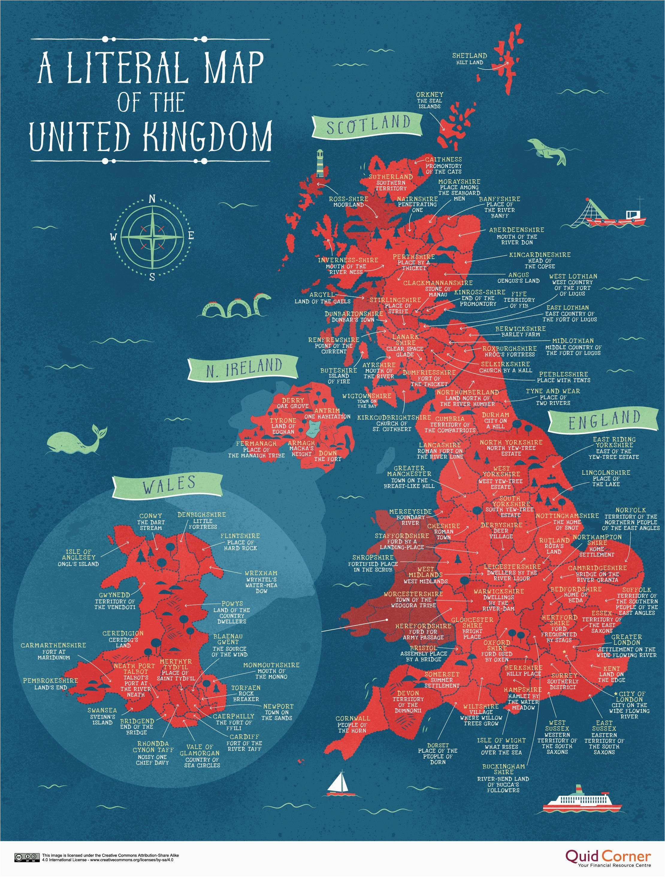 England Map In World A Literal Map Of the Uk Welsh Things Map Of Britain Map Of