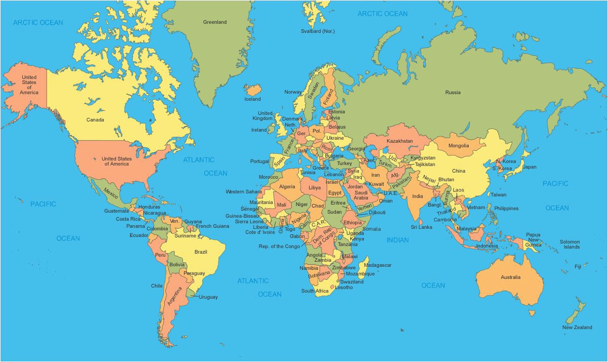 England On A World Map Political Map Of the World A World Maps World Map with