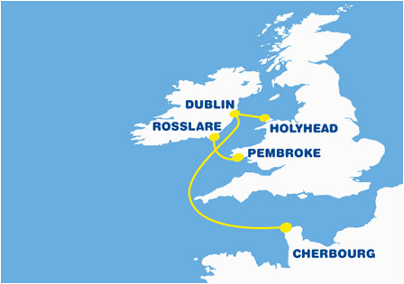Ferry Routes to Ireland From Uk Map Ferry to France From Ireland Cheap Ferry to France
