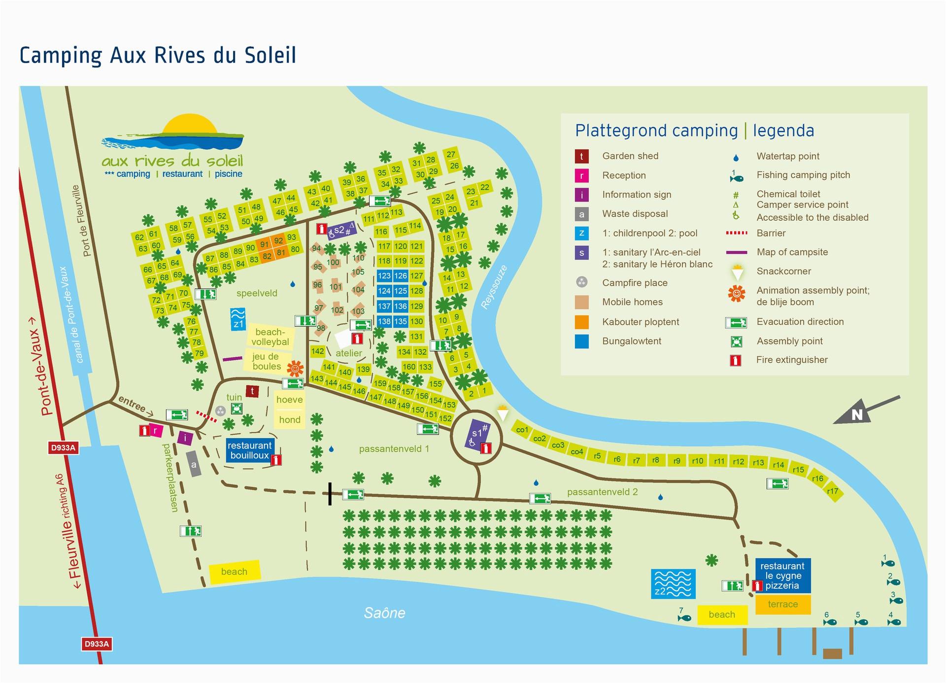France Campsites Map Camping Aux Rives Du soleil France Vacansoleil Ie
