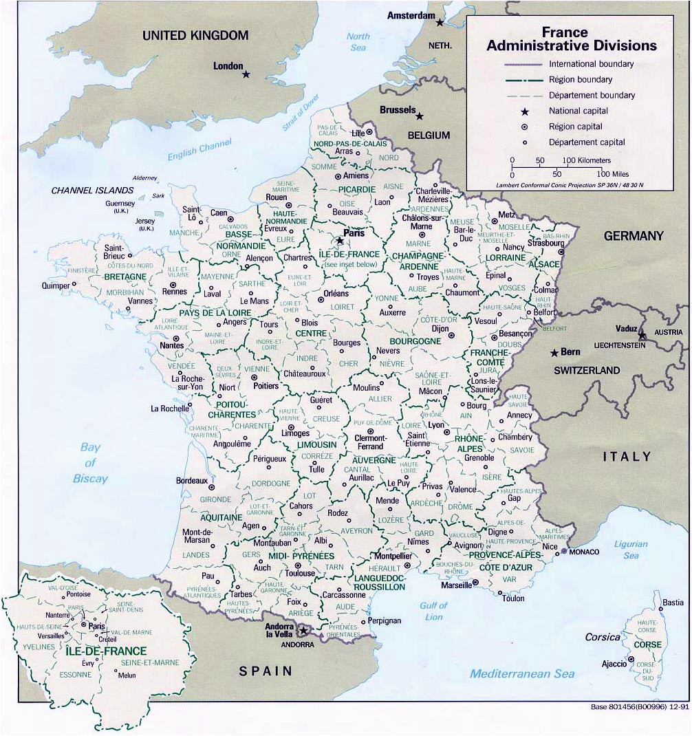 France Map with Cities and towns Map Of France Departments Regions Cities France Map