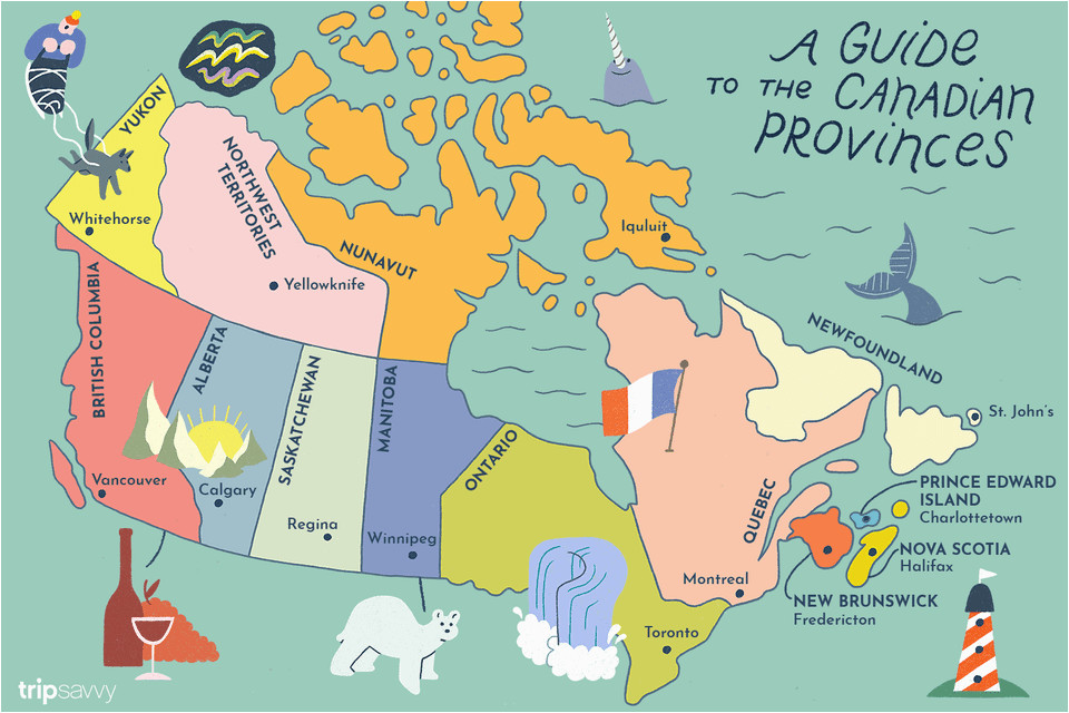 French Map Of Canada with Capitals Guide to Canadian Provinces and Territories