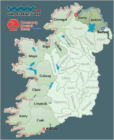 Golf In Ireland Map Wild atlantic Way Map Ireland Ireland Map Ireland Travel Donegal