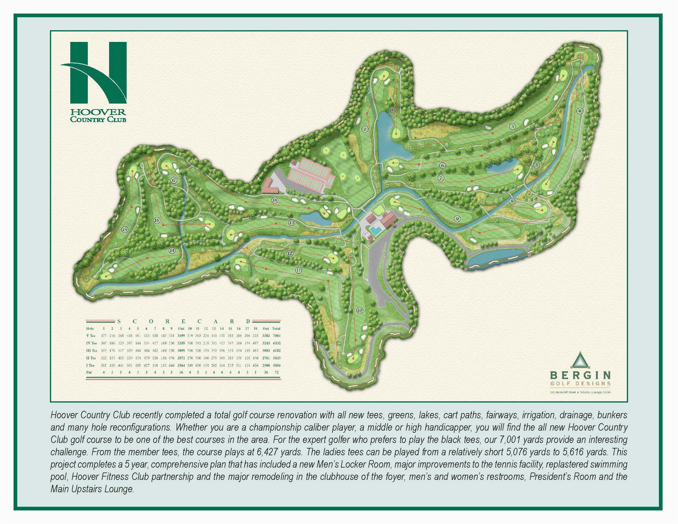 Golf Map Of Ireland Hoover Country Club Course Map Hcc Golf Our Beautiful Country