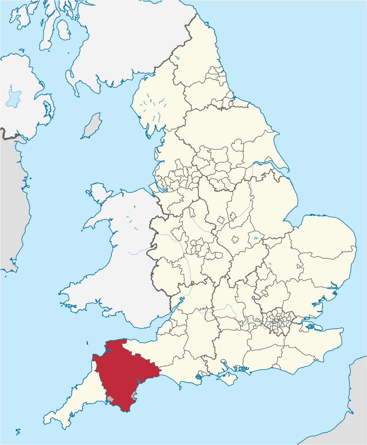 Hampshire On Map Of England Devon England Wikipedia