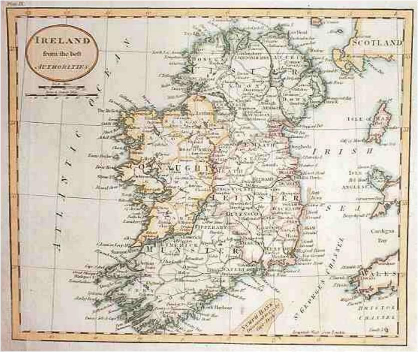 Historical Map Of Ireland Map Of Ireland In 1800 Russell Maps Map Historical