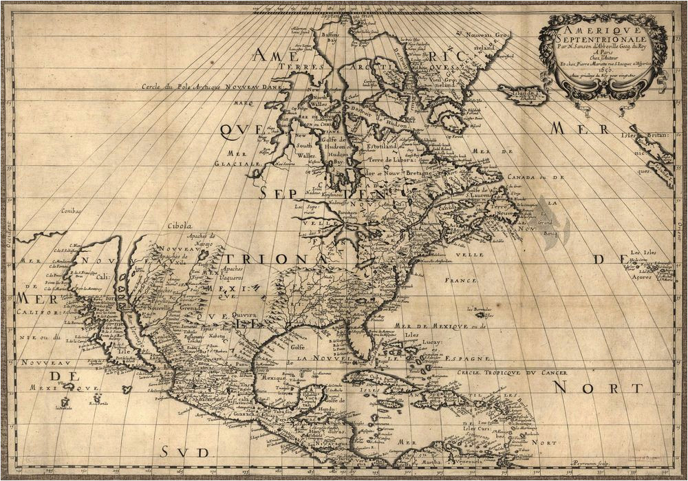 Historical Maps Of Canada 1650 Map United States Canada Mexico Antique north America 20