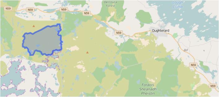 Ireland Relief Map Knockadav Knockadav Oughterard Heritage