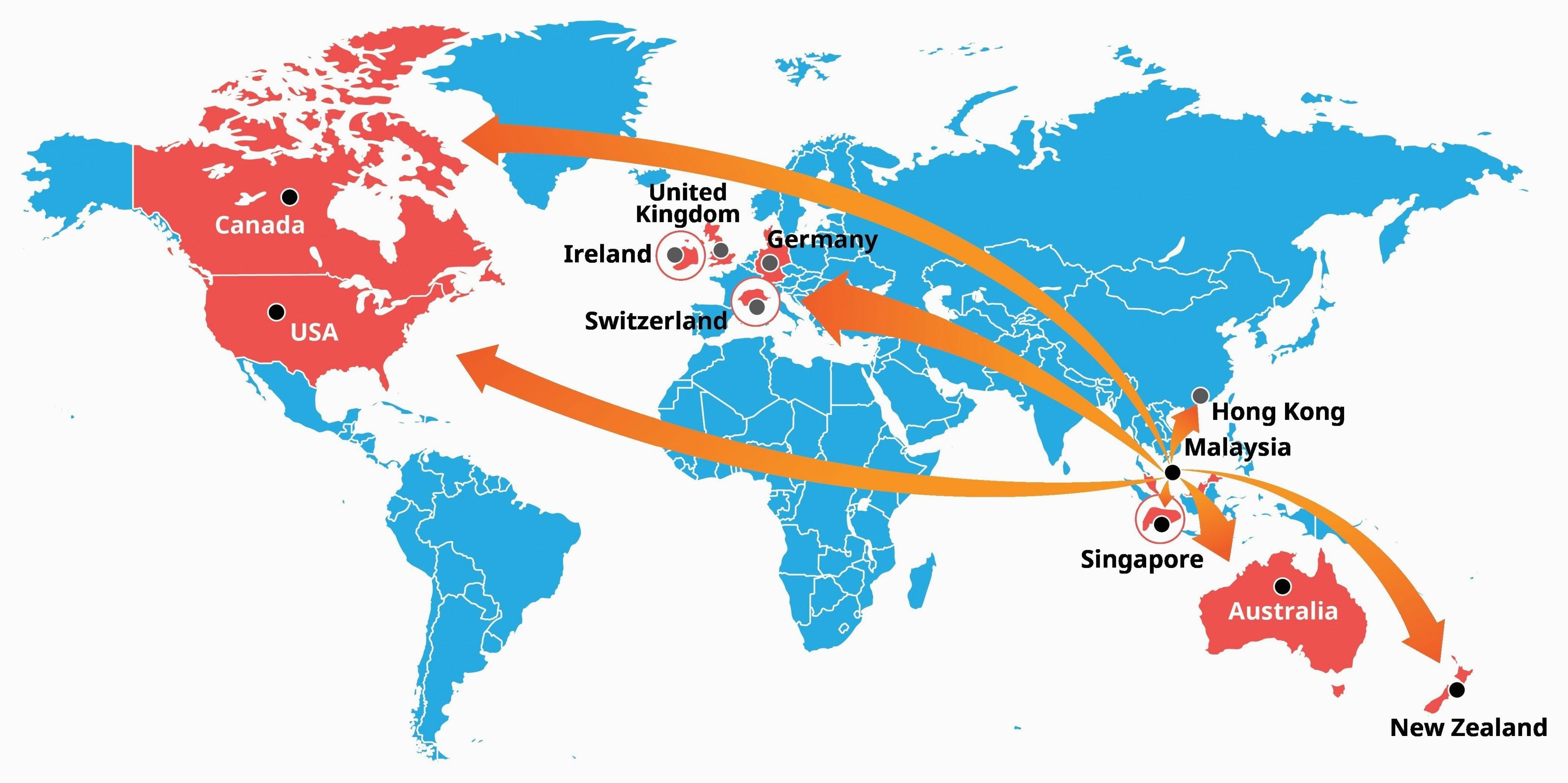Ireland World Map Location Singapore Location On World Map Climatejourney org
