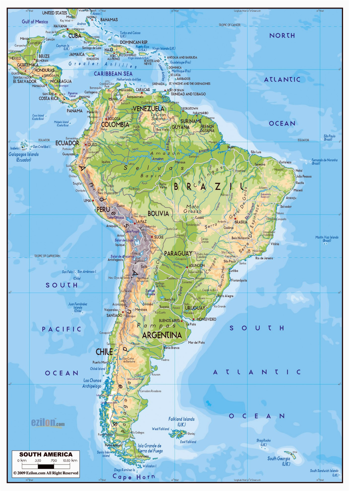 Labeled Map Of Spain south America Map Labeled Climatejourney org
