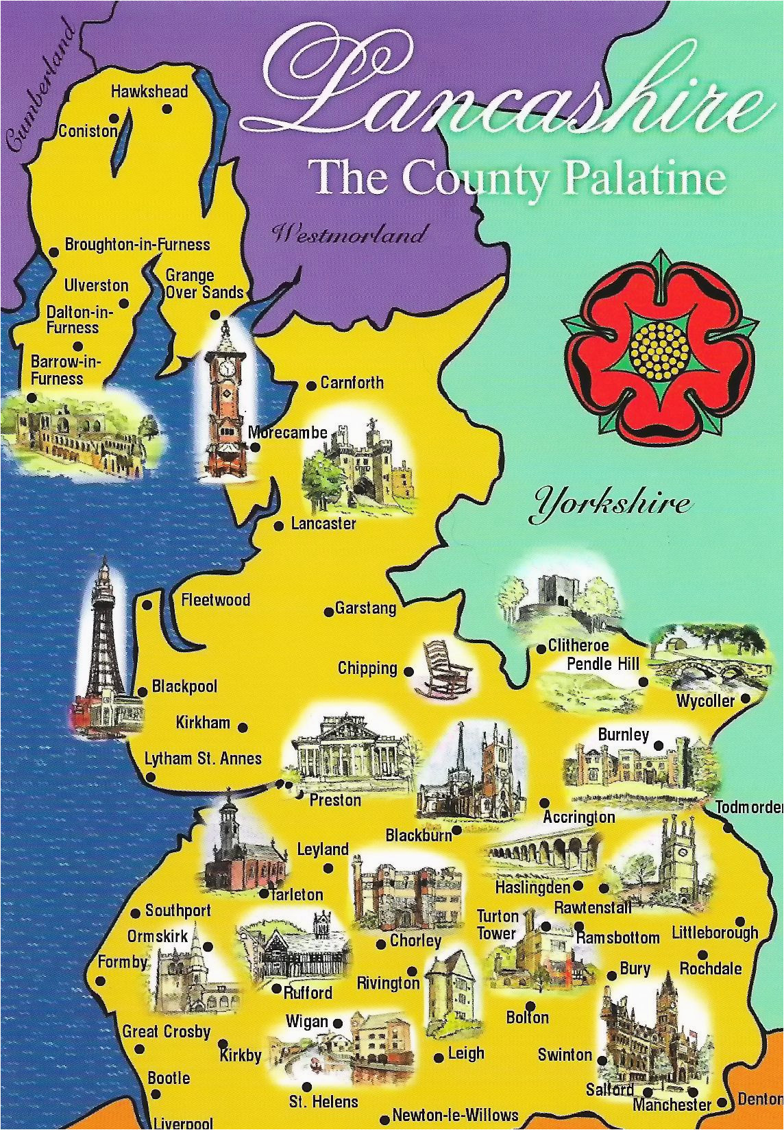 Lancashire On Map Of England Lancashire Map Sent to Me by Gordon Of northern Ireland Here is A