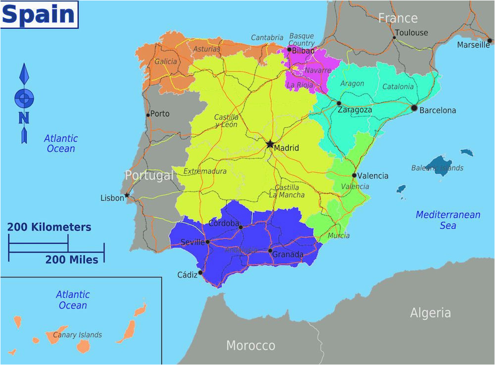 Language Map Of Spain Dividing Spain Into 5 Regions A Spanish Life Spain