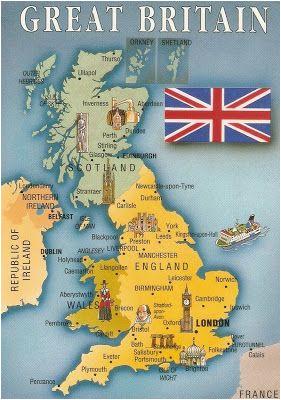 Leeds Map Of England Postcard A La Carte 2 United Kingdom Map Postcards Uk