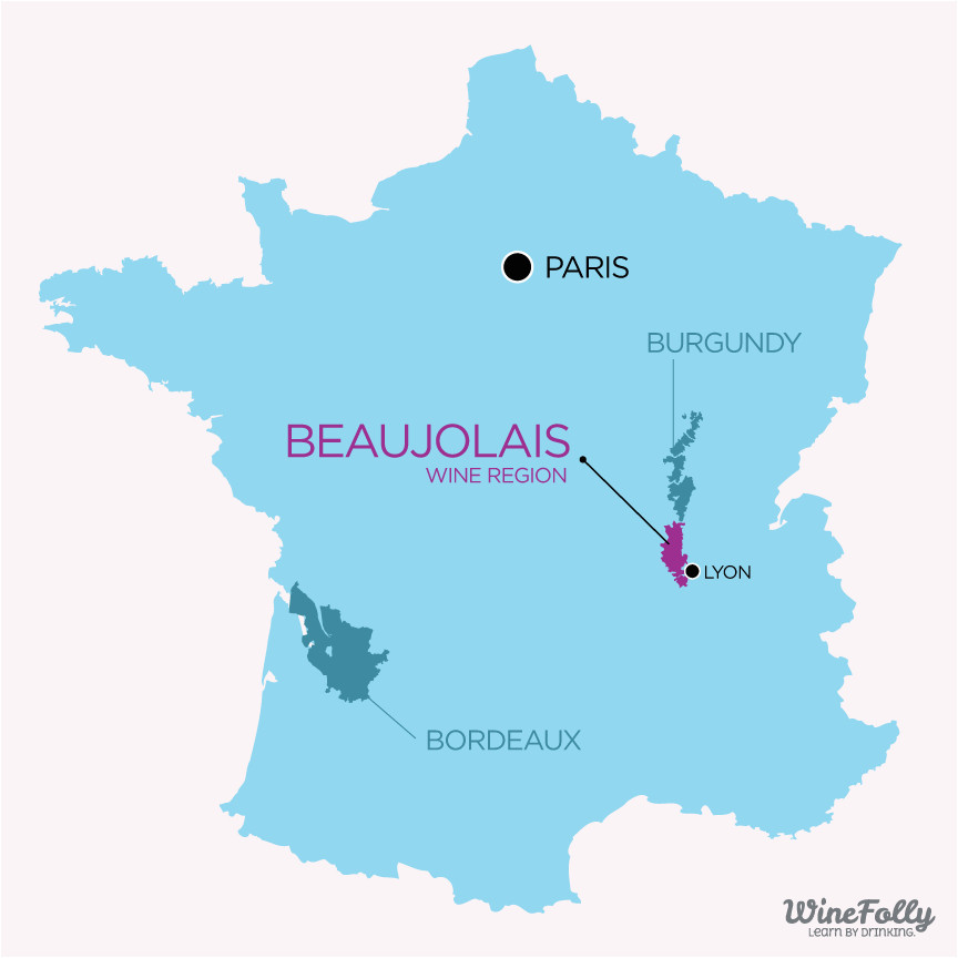 Lyon On Map Of France the Secret to Finding Good Beaujolais Wine Veni Vino Vici Wine