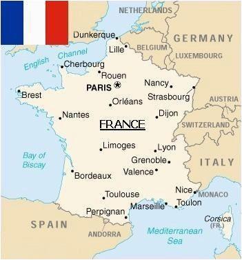 Lyons France Map Map Of France Paris France Map Metz France France Travel