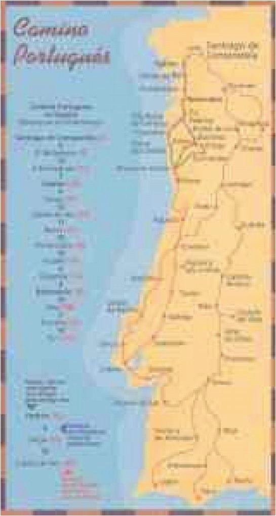 Map Camino Frances Mapas E Guias Do Caminho Portuguaas De Santiago Dobrar