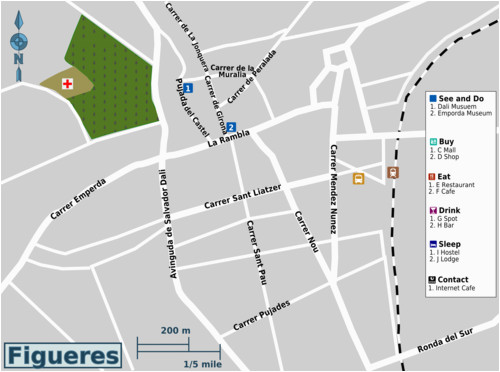 Map Figueres Spain Talk Figueres Travel Guide at Wikivoyage