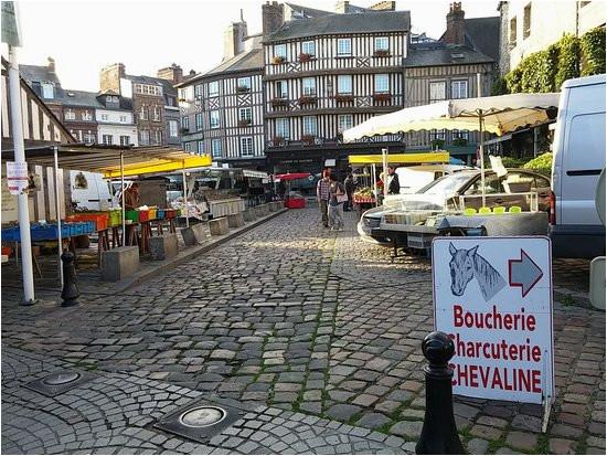 Map Honfleur France Blick Aus Der Kirchtur Auf Den Bunten Markt Picture Of