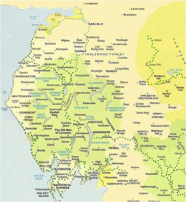 Map Lake District England Lake District Map Maps Of Cumbria National Park Boundaries