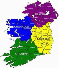 Map Munster Ireland 122 Best Munster Ireland Images In 2019