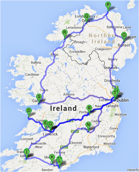 Map My Route Ireland the Ultimate Irish Road Trip Guide How to See Ireland In 12