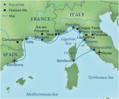 Map Of areas Of France Map Of Italy and Surrounding areas Cruising the Rivieras Of