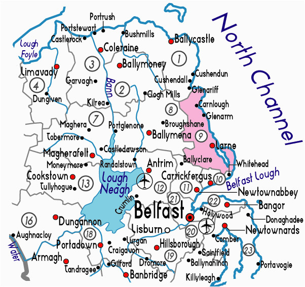 Map Of Bangor northern Ireland Larne Ireland Map Of Larne Clover Ireland Map