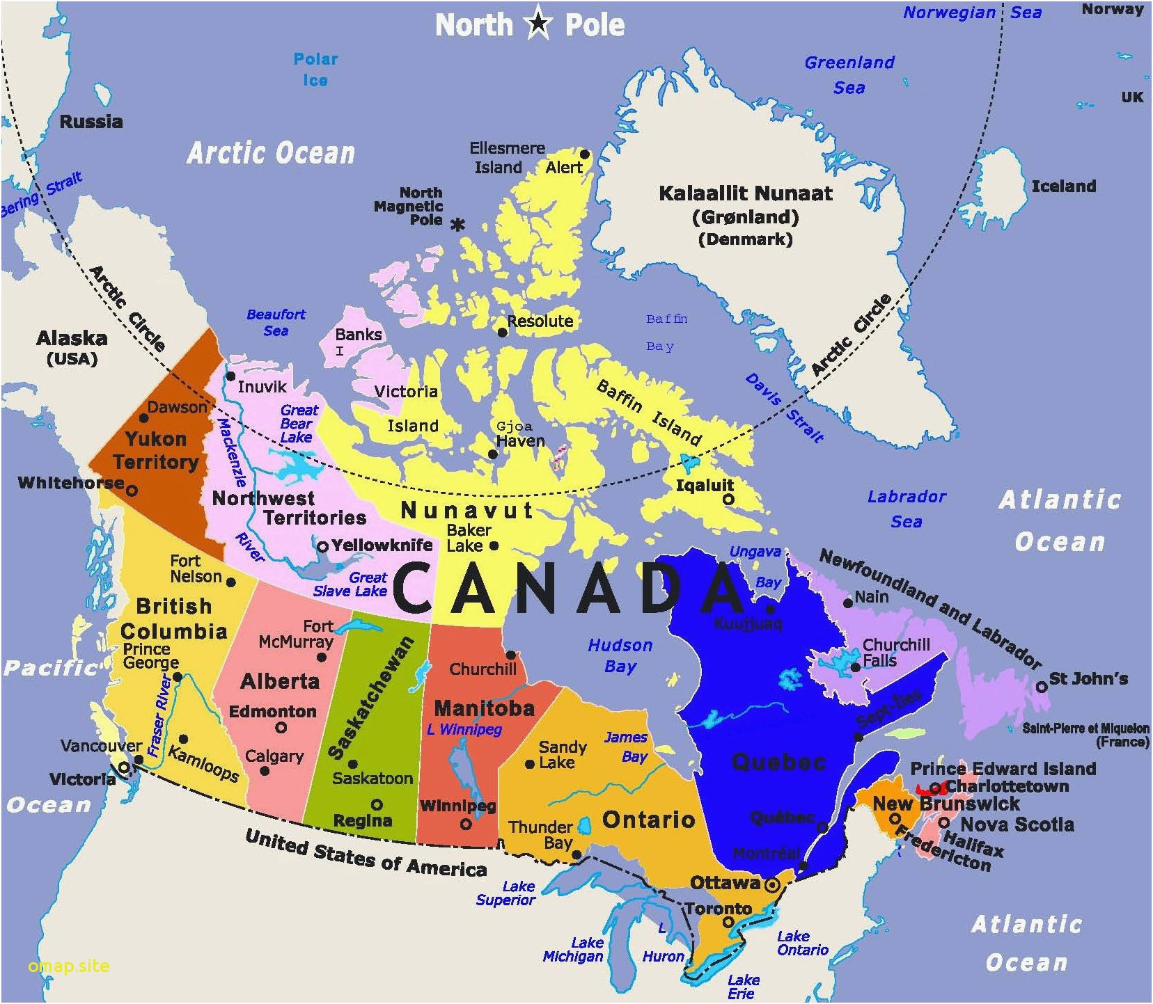 Map Of Canada Hudson Bay