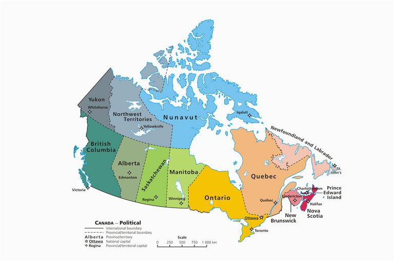 Map Of Canada Showing Provinces and Territories Canadian Provinces and the Confederation