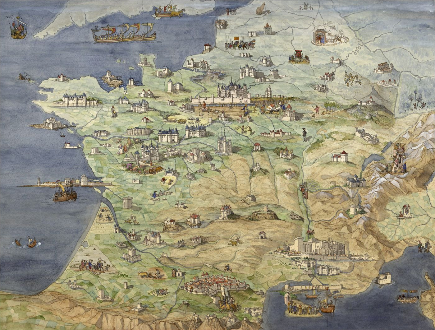 Map Of Castles In France France Jean Claude Golvin Castle Study In 2019 France