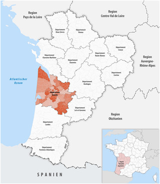 Map Of Gers France Wikizero Departement Gironde